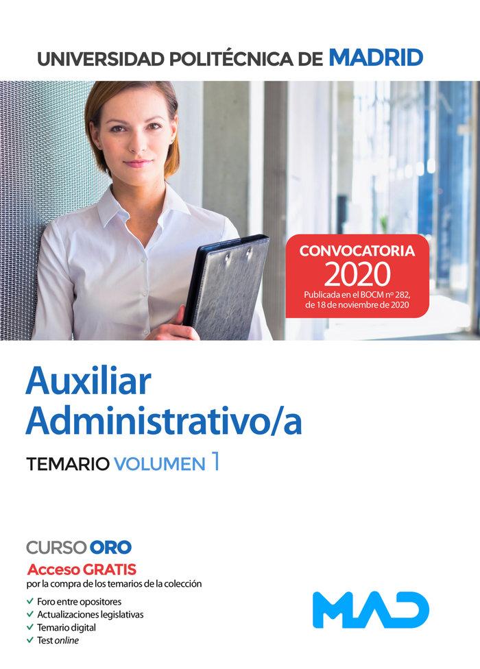 Auxiliar administrativo/a temario 1 politecnica