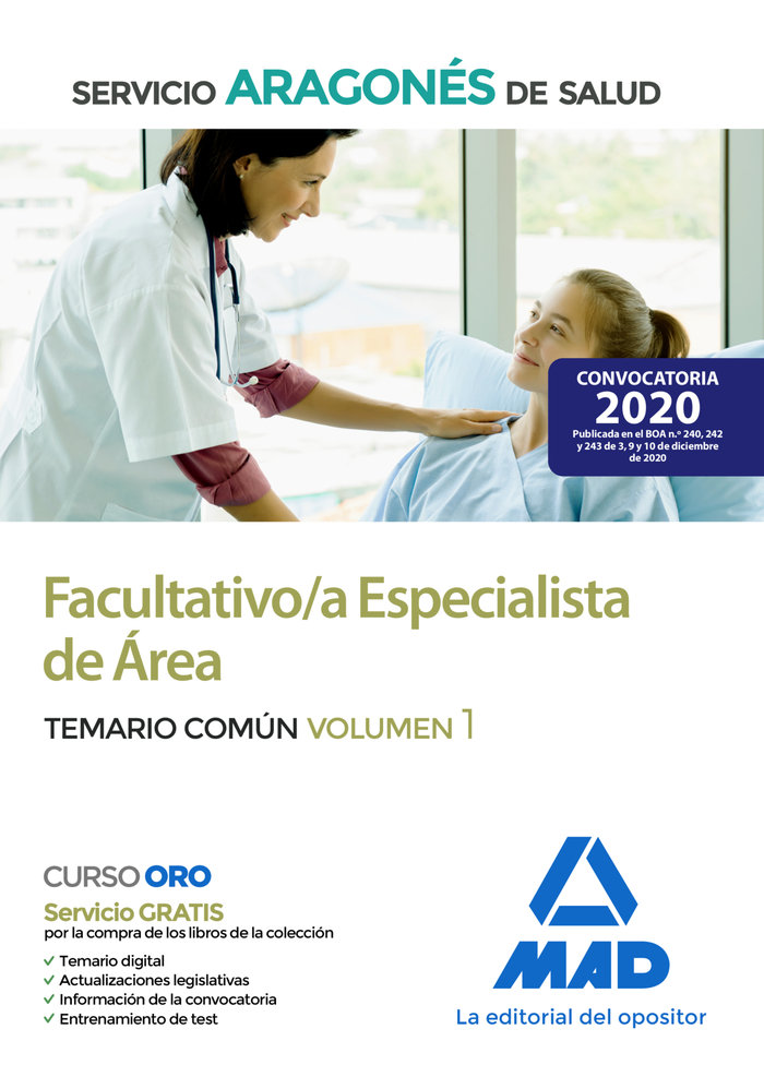 Facultativo especialista area servicio aragon salud vol 1