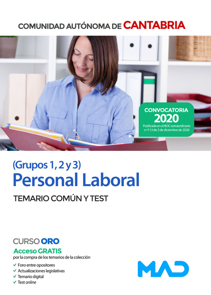 Personal laboral cantabria grupos 1-2-3 t comun y test