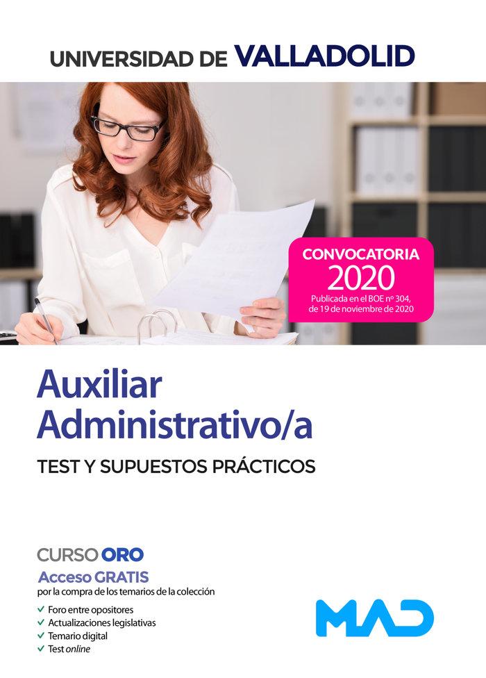 Test y supuestos practicos auxiliar administrativo valladol
