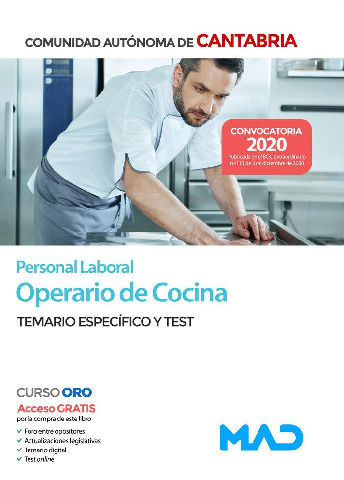 Operario cocina cantabria temario y test especifico