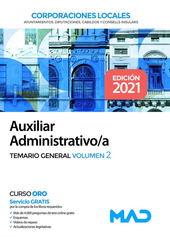 Auxiliar administrativo de corporaciones locales. temario ge