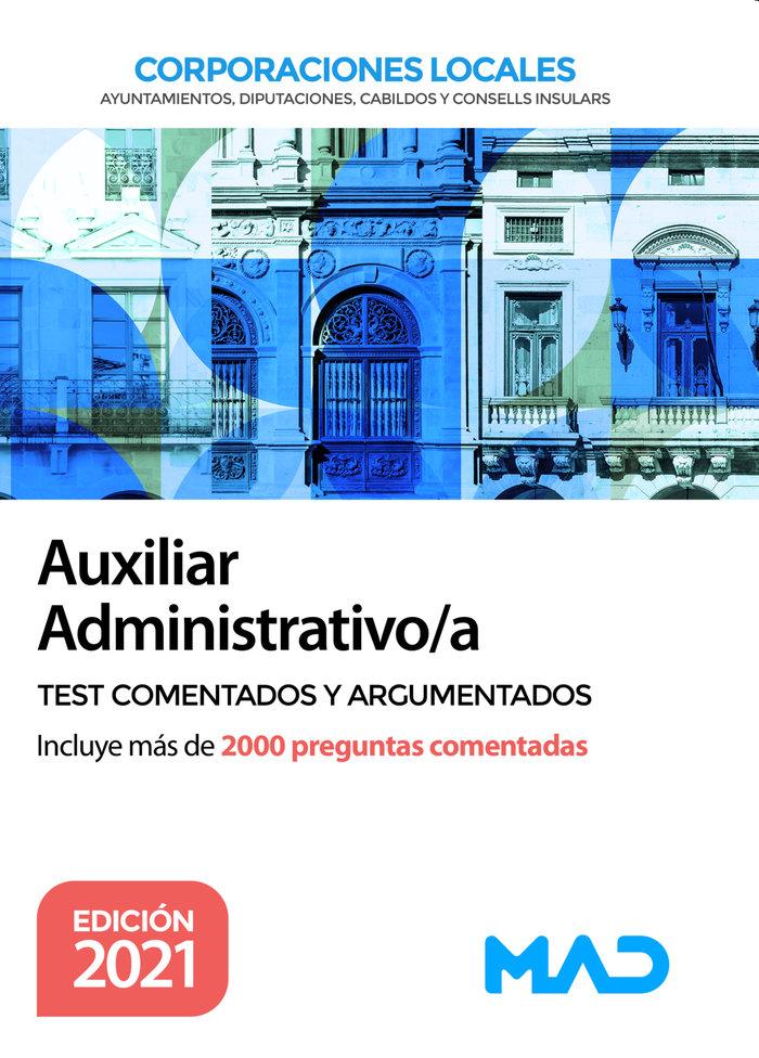 Auxiliar administrativo de corporaciones locales. test comen
