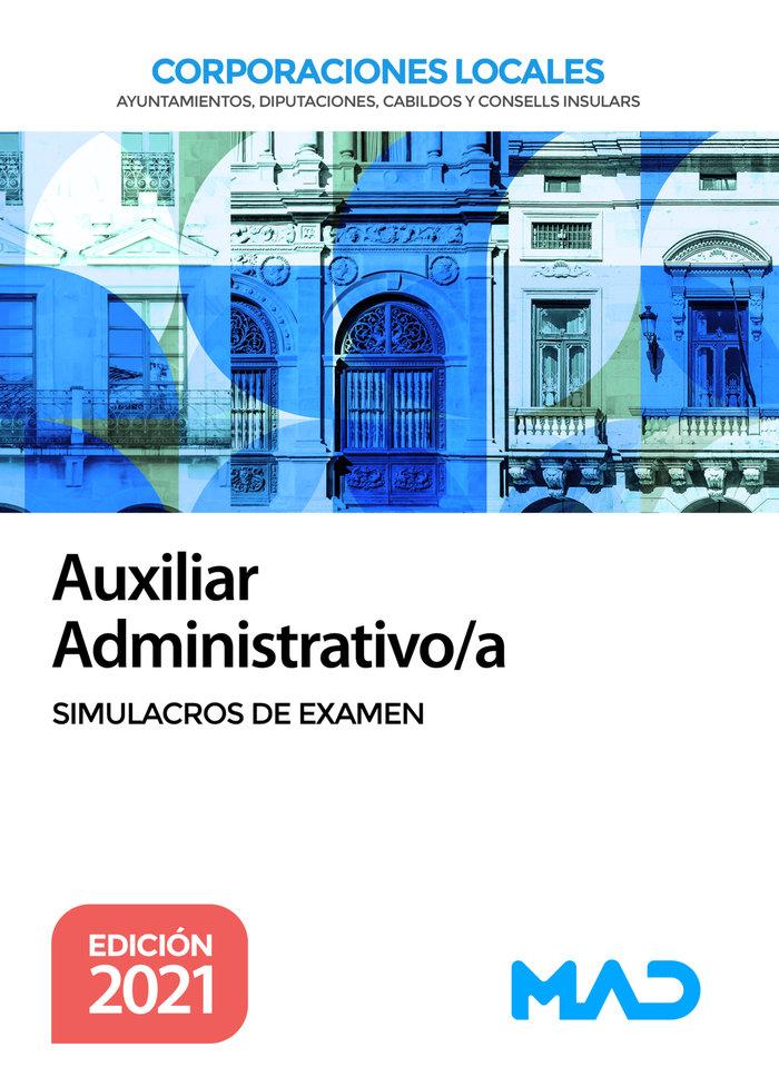 Auxiliar administrativo de corporaciones locales. simulacros