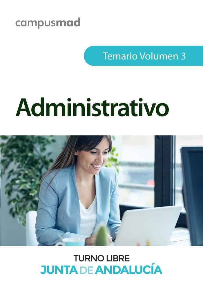 Administrativo de la junta de andalucia turno libre. temario