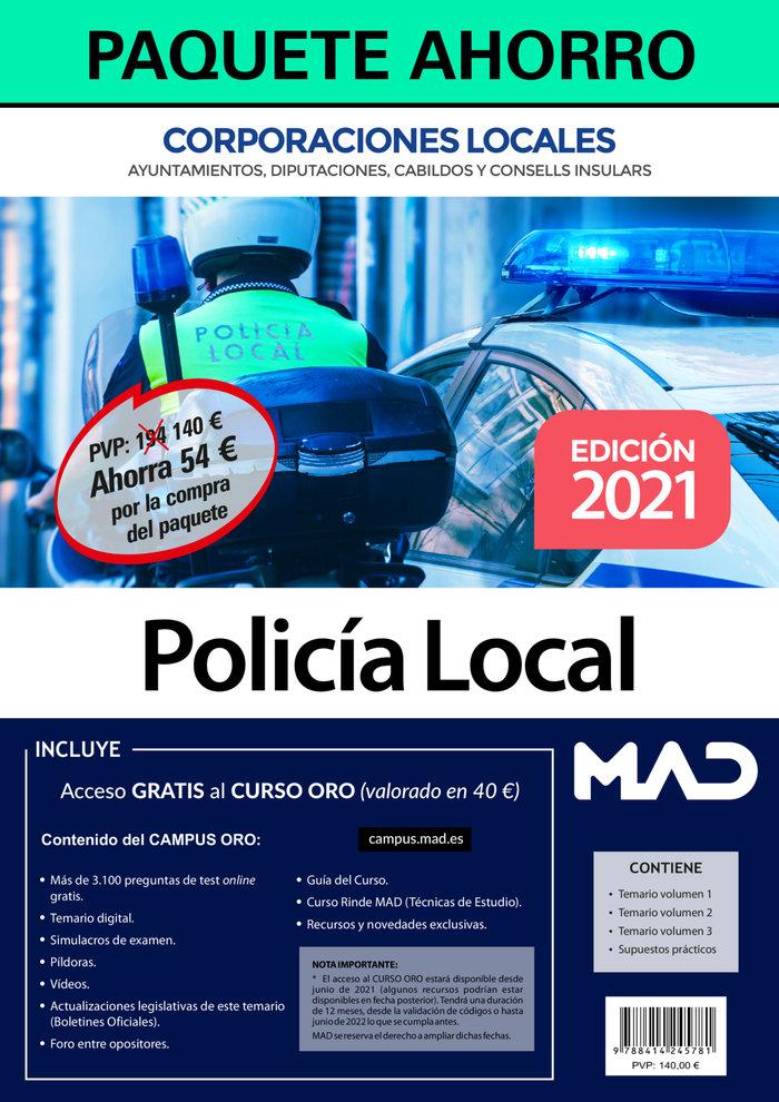Paquete ahorro policia local de corporaciones locales. ahorr