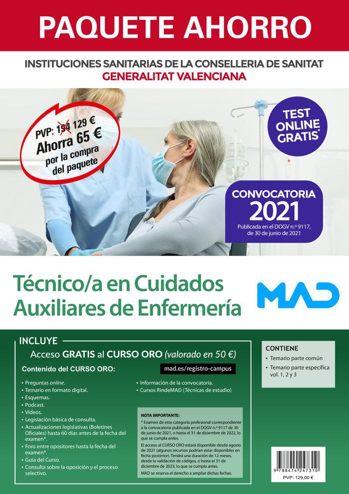 Paquete ahorro tecnico/a en cuidados auxiliares de enfermeri