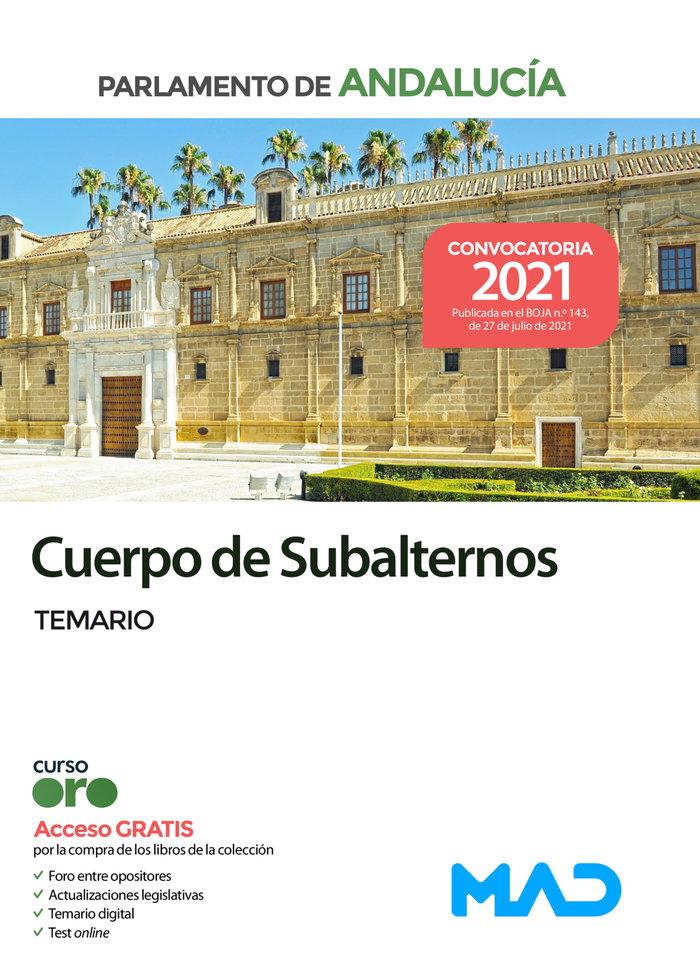 Cuerpo de subalternos del parlamento de andalucia. temario