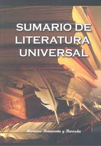 Sumario de literatura universal
