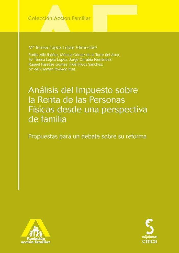 Analisis impuesto sobre renta personas fisicas familia