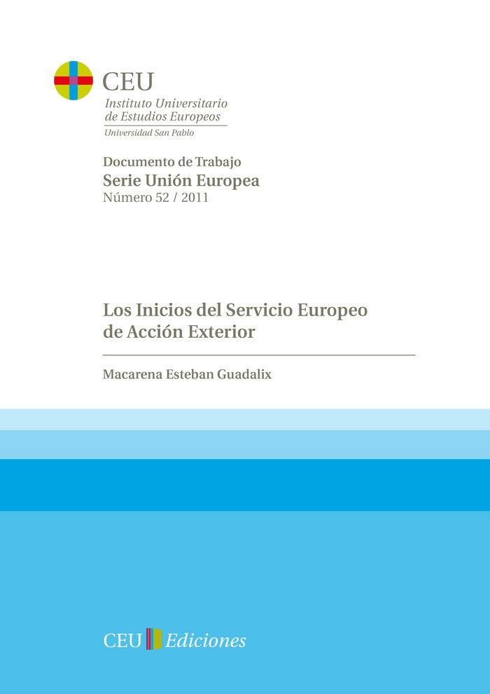 Inicios del servicio europeo de accion exterior,los