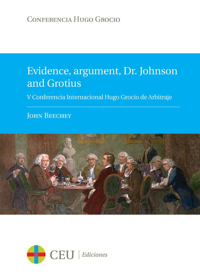 Evidence argument dr johnson and grotiu