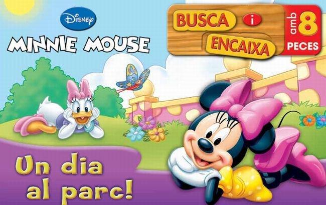 Busca i encaixa. minnie mouse. un dia al parc