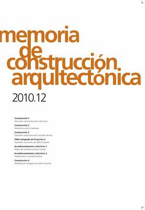 Memoria de construccion arquitectonica 2010.12