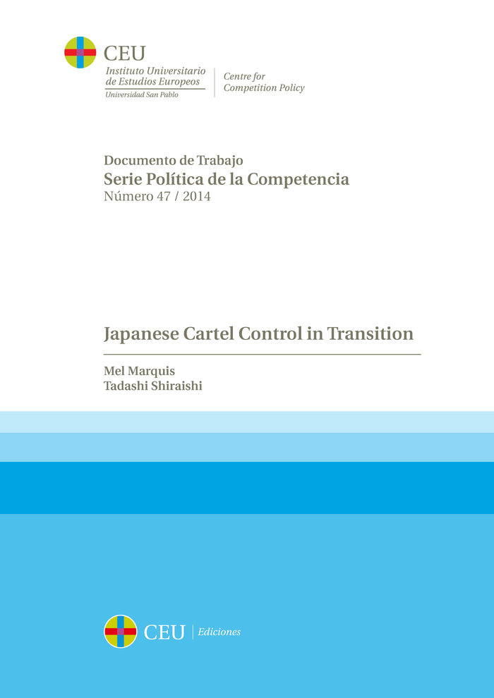 Japanese cartel control in transition