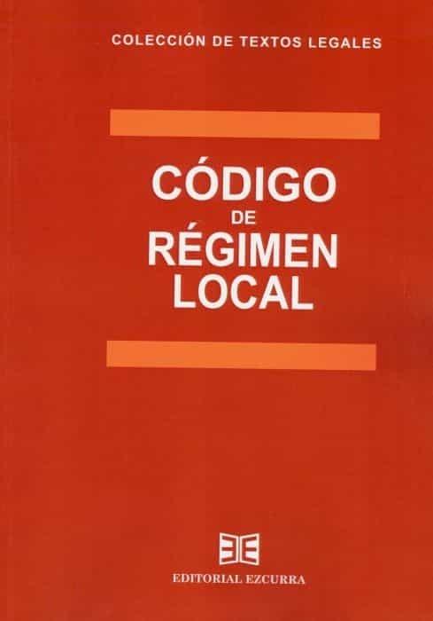 Codigo de regimen local 2020