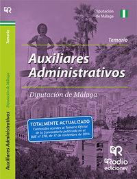 Auxiliar administrativo diputacion malaga temario