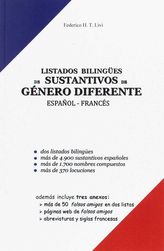 Doble listado bilingue de sustantivos de genero diferente es