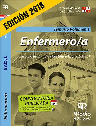 Enfermero. temario. volumen 1. servicio de salud de castilla