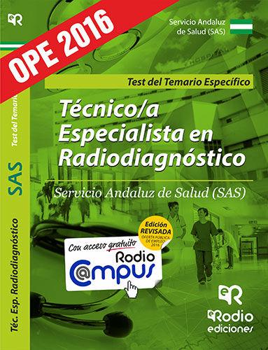 Tecnico/a especialista radiodiagnostico sas test