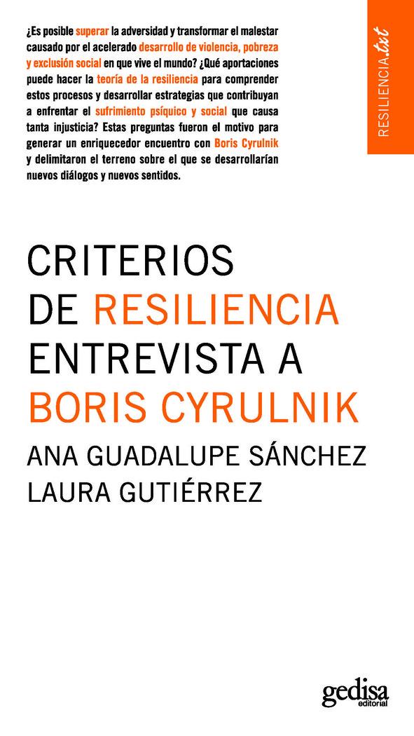 Criterios de resiliencia