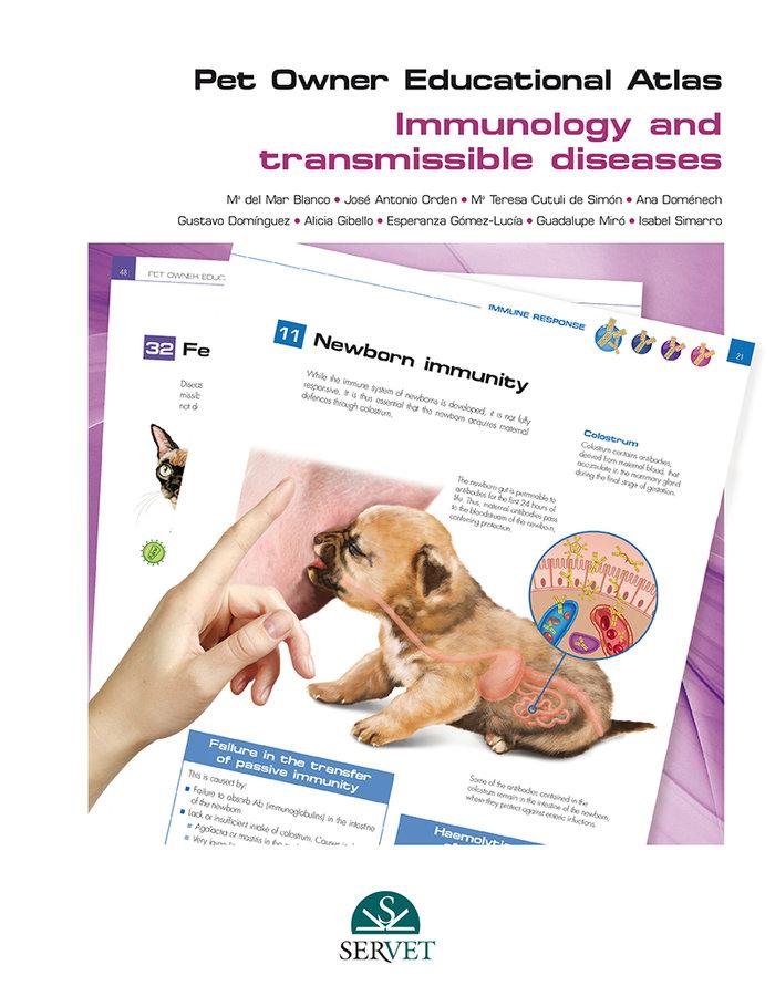 Pet owner educational atlas. immunology and transmissible di