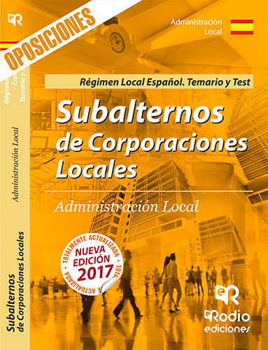 Subalternos de corporaciones locales. regimen local espaÇÑol
