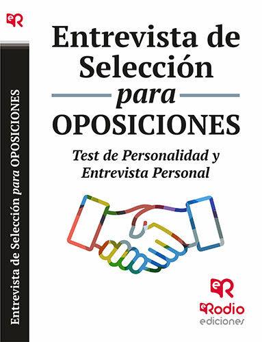 Entrevista de seleccion para oposiciones. test de personalid