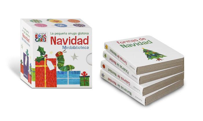 Pequeña oruga glotona navidad minibiblioteca,la