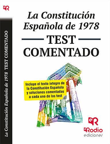 Constitucion española de 1978 test coment