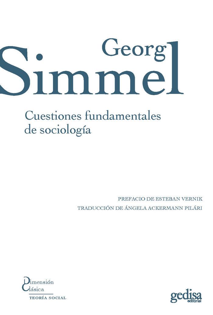 Cuestiones fundamentales de sociologia