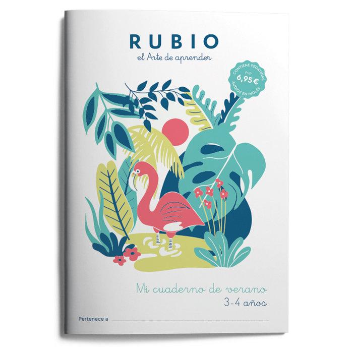 Mi cuaderno de verano rubio 3-4 años