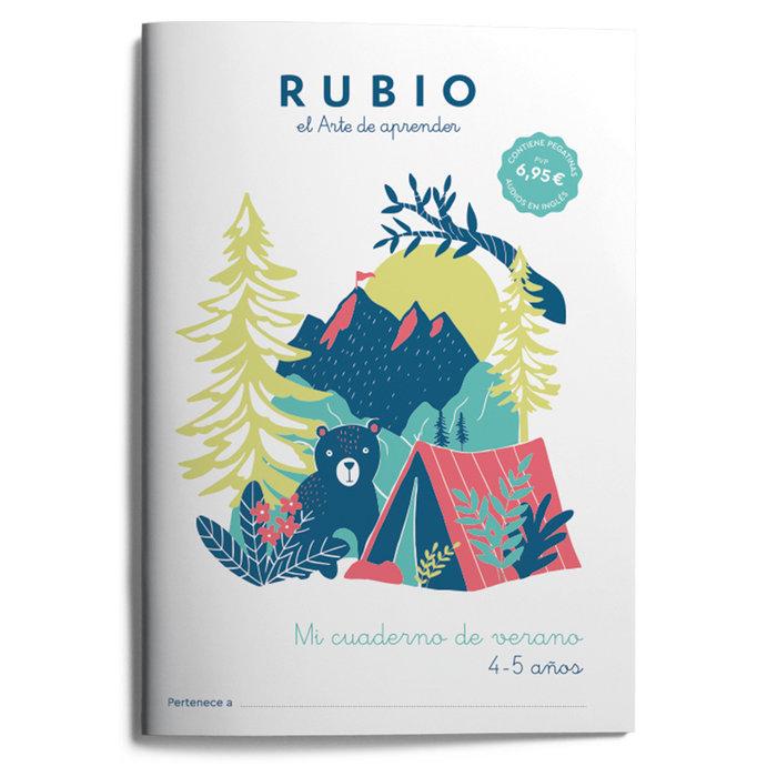 Mi cuaderno de verano rubio 4-5 años