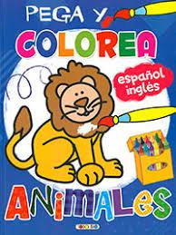Pega y colorea animales 1