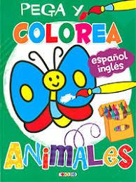 Pega y colorea animales 2