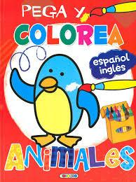 Pega y colorea animales 3