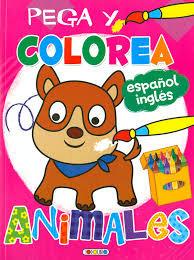 Pega y colorea animales 4