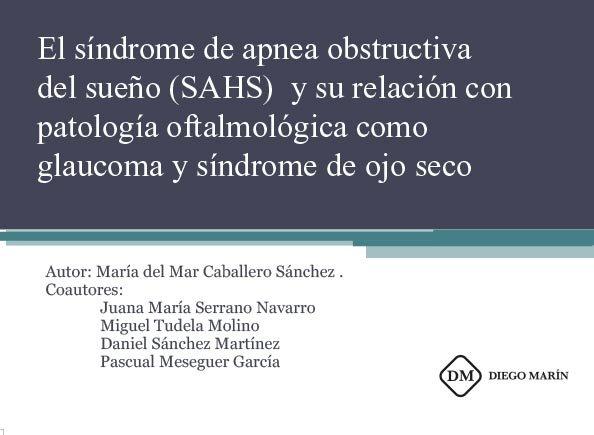 Sindrome de apnea obstructiva del sueño (sahs) y su relacion