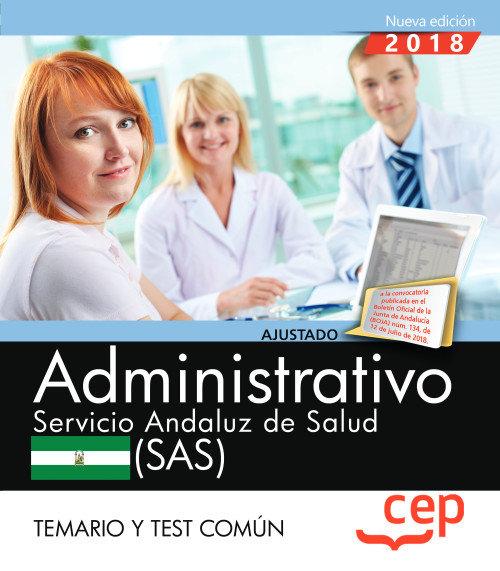 Administrativo servicio andaluz salud temario y test
