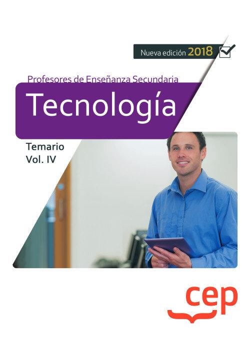 Cuerpo profesor enseñanza secundaria tecnologia vol 4