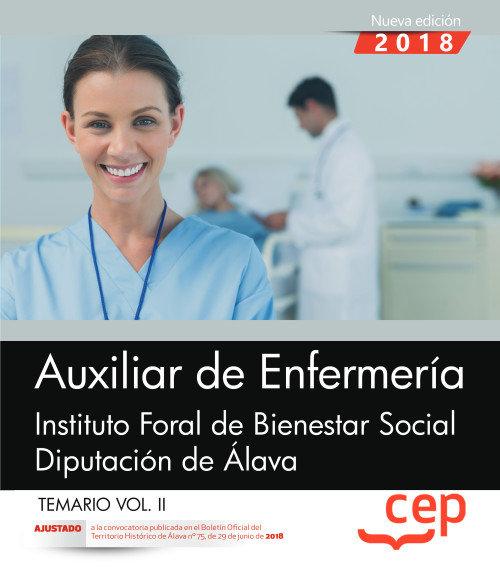 Auxiliar enfermeria instituto bienestar social alava vol 2