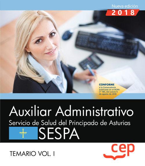 Auxiliar administrativo servicio salud principado ast vol 1