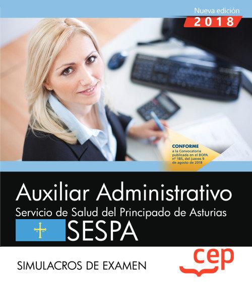 Auxiliar administrativo servicio salud principado examen