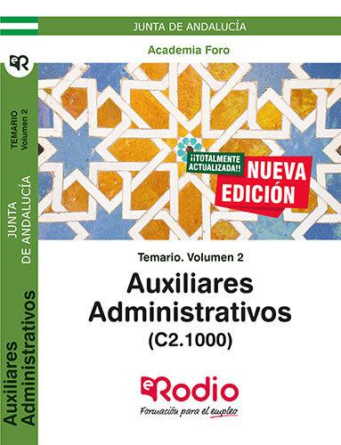 Auxiliares administrativos c2.1000 junta andalucia vol 2