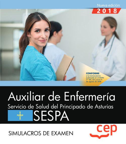 Auxiliar de enfermeria del servicio de salud del principado