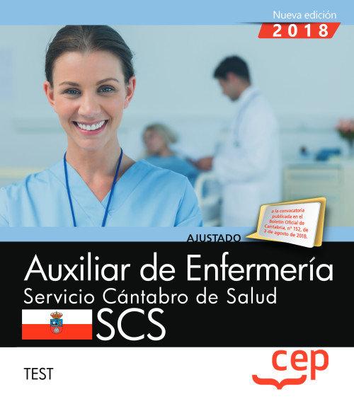 Auxiliar enfermeria servicio cantabro test