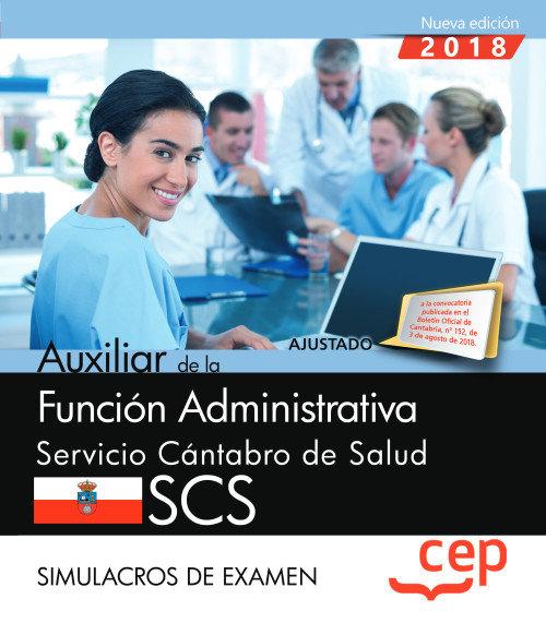 Auxiliar funcion administrativa servicio cantabro simulacro