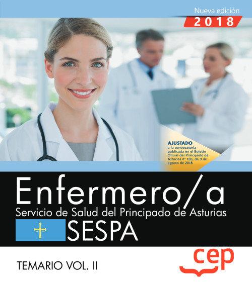 Enfermero/a salud principado asturias temario ii