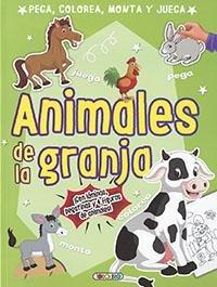Animales de la granja-pega,colorea,monta y juega