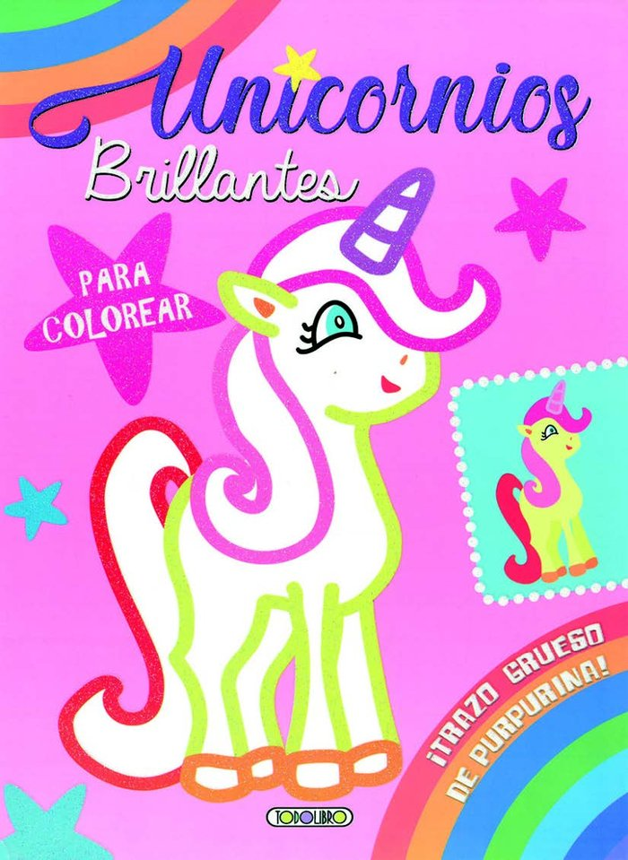 Unicornios brillantes colores 1